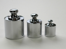 【直送品】 【分銅】 円筒型分銅 基準分銅型(黄銅クロムメッキ) F2CBB-500G
