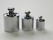 【直送品】 【分銅】 円筒型分銅 基準分銅型(黄銅クロムメッキ) F2CBB-5K