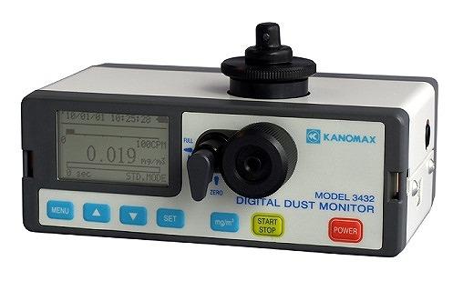 日本カノマックス (KANOMAX) 光散乱式デジタル粉じん計 MODEL 3432
