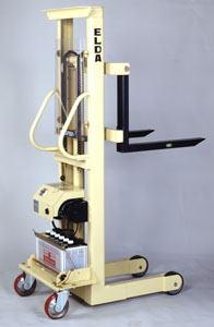 【代引不可】 カントー バッテリー電動油圧昇降式リフター エルダ100-13 (elda-100-13) (シングルマスト式) 【メーカー直送品】