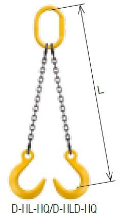 【直送品】 キトー ダブルスリング D-HLD-HQ-M 13mm リーチ2.0m 《キトーチェンスリング100【標準セット品】(アイタイプ)》