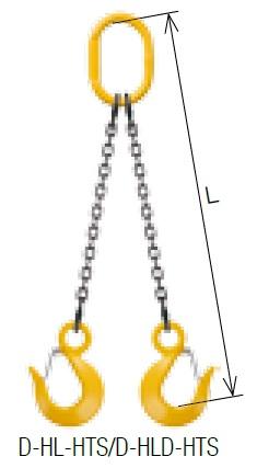【直送品】 キトー ダブルスリング D-HLD-HTS-M 13mm リーチ2.0m 《キトーチェンスリング100【標準セット品】(アイタイプ)》