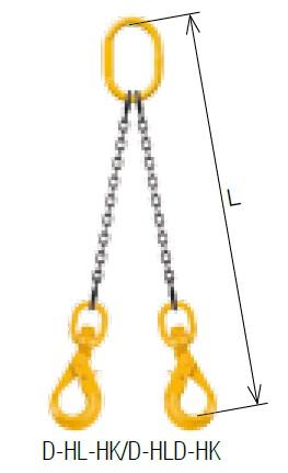 【代引不可】 キトー ダブルスリング D-HLD-HK 13mm リーチ2.0m 《キトーチェンスリング100【標準セット品】(アイタイプ)》 【メーカー直送品】