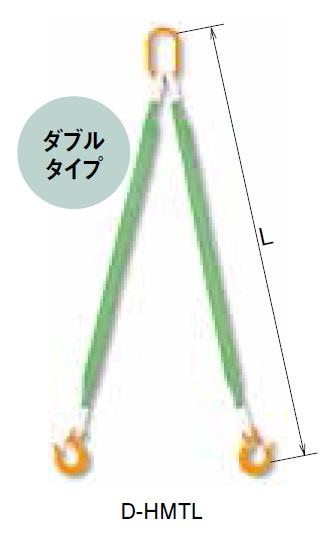 キトー カナグ付ベルトスリング D-HMTL (SCL形 60mm×1.5m) 《繊維スリング》