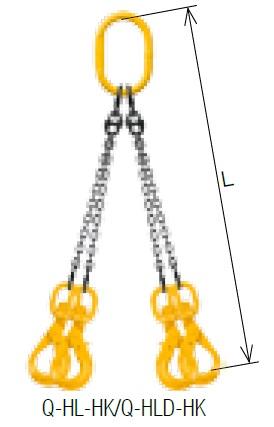 【予約受付中】 Q-HL-HK-M クウォードスリング キトー 《キトーチェンスリング100【標準セット品】(アイタイプ)》:道具屋さん店 リーチ1.5m 6mm-DIY・工具