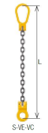 キトー シングルスリング S-VE-VC 10mm リーチ1.5m 《キトーチェンスリング100【標準セット品】(ピンタイプ)》