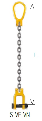 キトー シングルスリング S-VE-VN 13mm リーチ2.0m 《キトーチェンスリング100【標準セット品】(ピンタイプ)》
