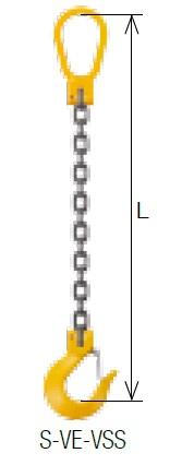 キトー シングルスリング S-VE-VSS 10mm リーチ1.5m 《キトーチェンスリング100【標準セット品】(ピンタイプ)》