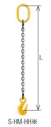 キトー シングルスリング S-HM-HH 6mm リーチ1.5m 《キトーチェンスリング100【標準セット品】(アイタイプ)》