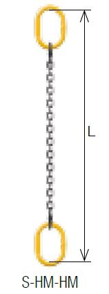 キトー シングルスリング S-HM-HM-M 8mm リーチ1.5m 《キトーチェンスリング100【標準セット品】(アイタイプ)》