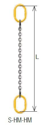 キトー シングルスリング S-HM-HM 8mm リーチ1.5m 《キトーチェンスリング100【標準セット品】(アイタイプ)》