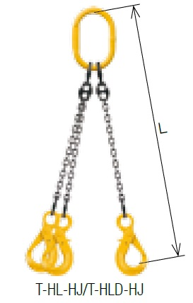 【直送品】 キトー トリプルスリング T-HLD-HJ 10mm リーチ1.5m 《キトーチェンスリング100【標準セット品】(アイタイプ)》