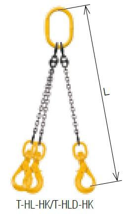 【直送品】 キトー トリプルスリング T-HLD-HK 10mm リーチ1.5m 《キトーチェンスリング100【標準セット品】(アイタイプ)》