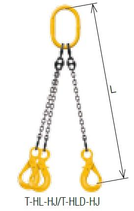 キトー トリプルスリング T-HL-HJ 8mm リーチ1.5m 《キトーチェンスリング100【標準セット品】(アイタイプ)》