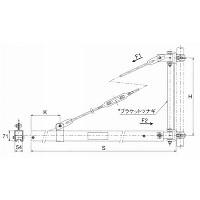 【直送品】 キトー ウォール形ジブクレーン NWMG25 (250kg C形ビーム)