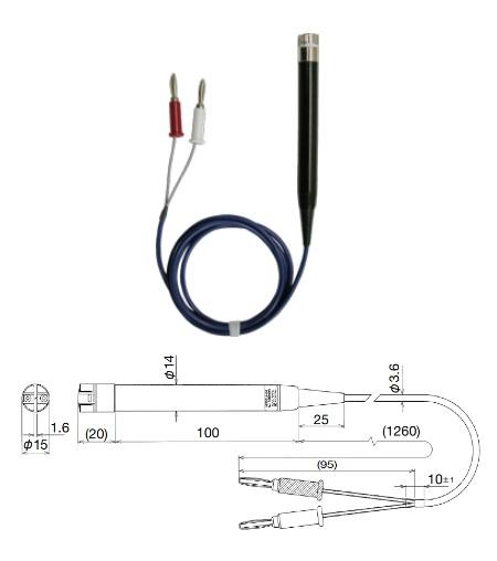 共立電気計器 Kタイプ温度プローブ 8406 (オプション)