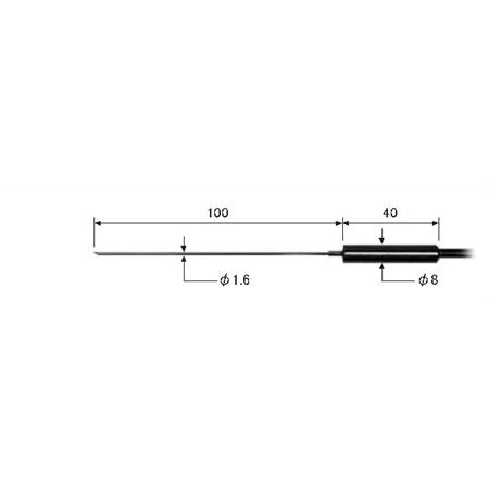 ライン精機 (LINE) ワイヤタイプ熱電対プローブ(K型) KS-22A