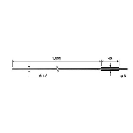 ライン精機 (LINE) ワイヤタイプ熱電対プローブ(K型) KS-80A