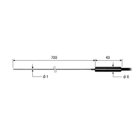 ライン精機 (LINE) ワイヤタイプ熱電対プローブ(K型) KS-97A