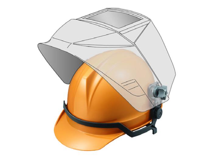 【直送品】 マイト工業 レインボーマスク INFO-2200-H (ヘルメット装着タイプ)【法人向け、個人宅配送不可】