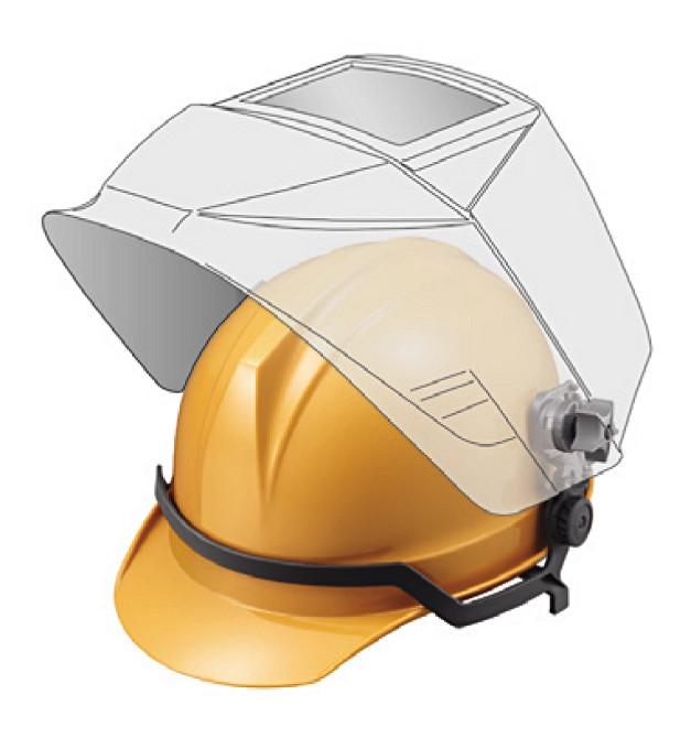 【直送品】 マイト工業 レインボーマスク MR-930-H (ヘルメット装着タイプ)【法人向け、個人宅配送不可】