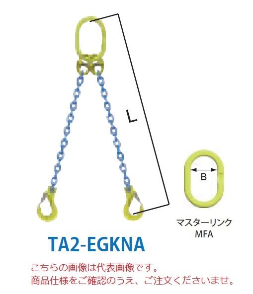 【直送品】 マーテック チェーンスリング 2本吊りセット TA2-EGKNA 6mm 全長1.5m (TA2-EGKNA-6)