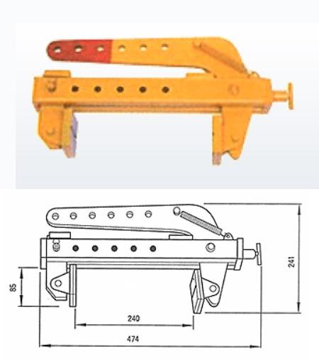 三木ネツレン オールマイティクランプ CU-AM型500KG (F3105) (開放装置付き)