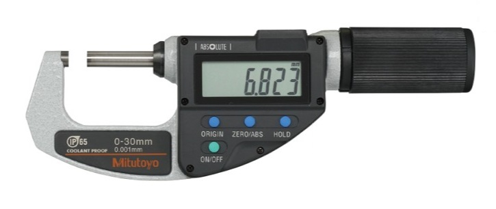 ミツトヨ (Mitutoyo) マイクロメーター MDQ-30MX (293-666-20) (直進式デジタルマイクロメータ)