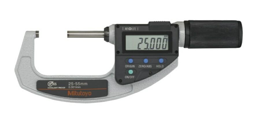ミツトヨ (Mitutoyo) マイクロメーター MDQ-55MX (293-667-20) (直進式デジタルマイクロメータ)