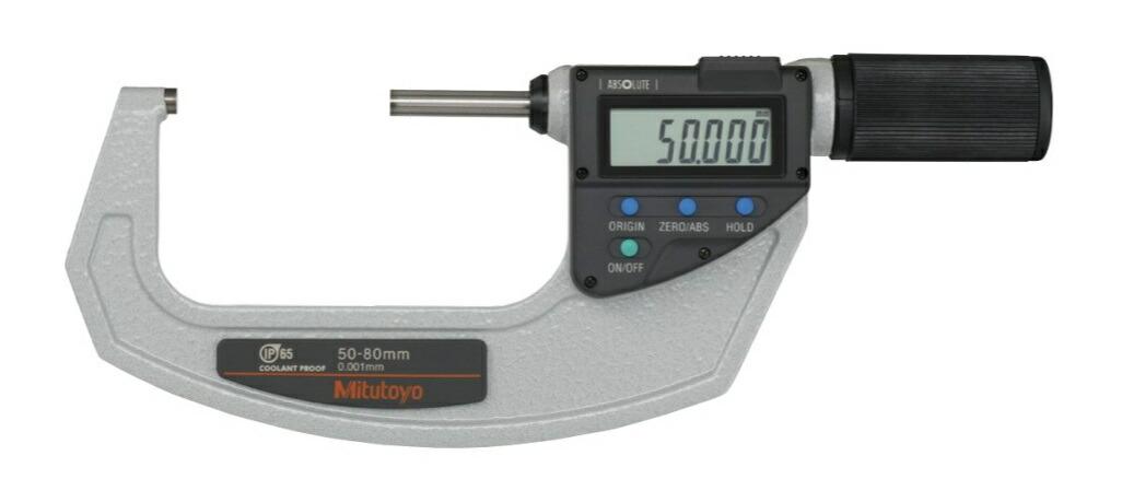 ミツトヨ (Mitutoyo) マイクロメーター MDQ-80MX (293-668-20) (直進式デジタルマイクロメータ)