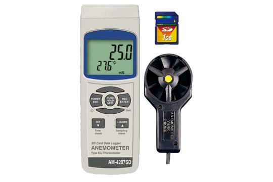 マザーツール (MT) SDカードデータロガデジタル風速計 AM-4207SD