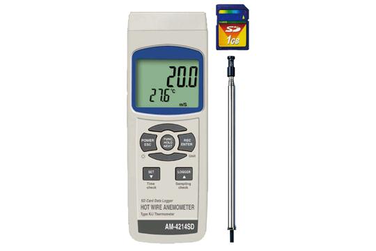 マザーツール (MT) SDカードデータロガデジタル風速計 AM-4214SD