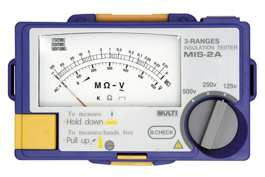 マザーツール (MT) アナログ3レンジ絶縁抵抗計 MIS-1A
