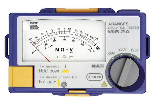 マザーツール (MT) アナログ3レンジ絶縁抵抗計 MIS-2A
