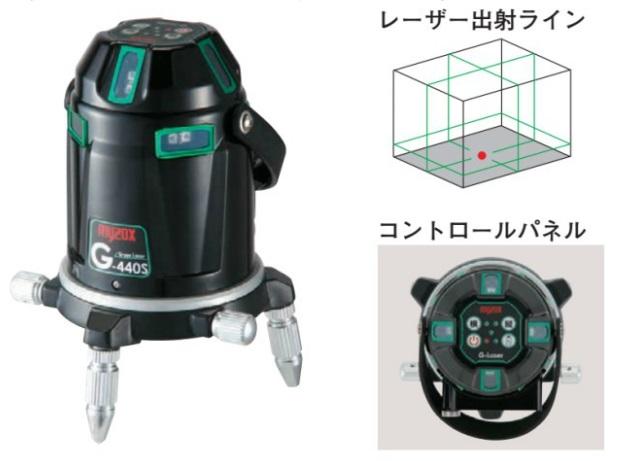 マイゾックス 電子自動整準グリーンレーザー墨出器 G-440S (221450) (本体セット)