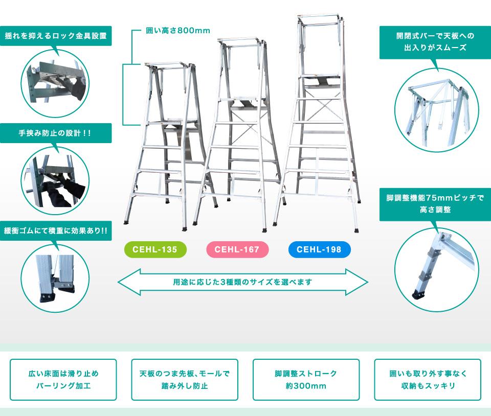 【代引不可】 ナカオ (NAKAO) アルミニウム合金製作業台 CEHL-135 コンスライト 【大型】