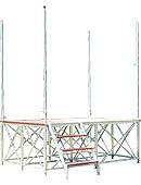 【P10倍】 【直送品】 ナカオ (NAKAO) アルミ製ステージ 舞台(ステージ) TSF-A (受注生産品) 【法人向け、個人宅配送不可】 【大型】