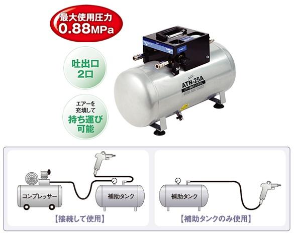 【直送品】 ナカトミ エアー補助タンク ATN-25A 【法人向け、個人宅配送不可】