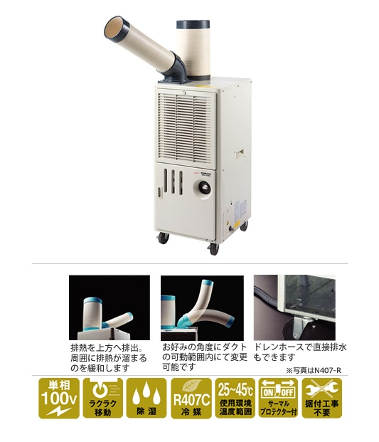 【直送品】 ナカトミ 排熱ダクト付きスポットクーラー SAC-1000 【法人向け、個人宅配送不可】《スポットエアコン》 【大型】