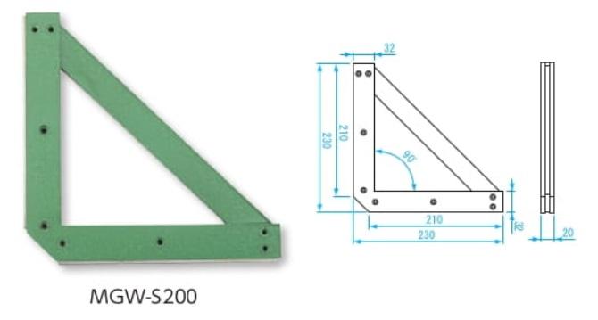 新潟精機 溶接用マグネウェルダ MGW-S200 (012856) (強力保持タイプ)
