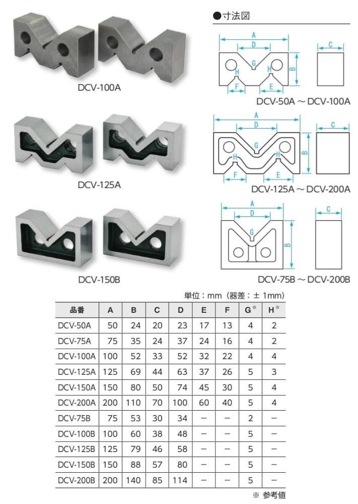 新潟精機 鋳鉄製Vブロック A型 DCV-200A (150606)