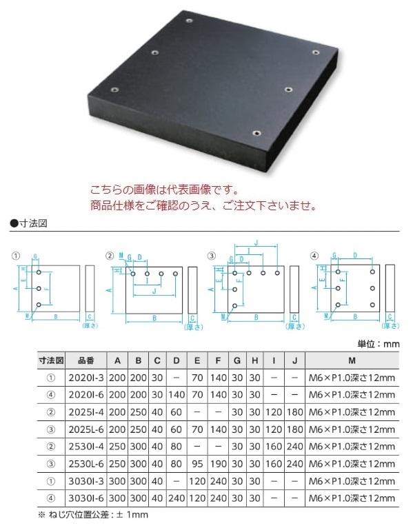 新潟精機 冶具プレート 3030I-6 (151177)