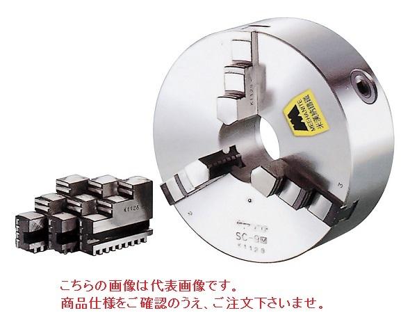 【直送品】 億川鉄工所 3爪スクロールチャック 硬爪タイプ SC-12 (背面取付用) 【大型】