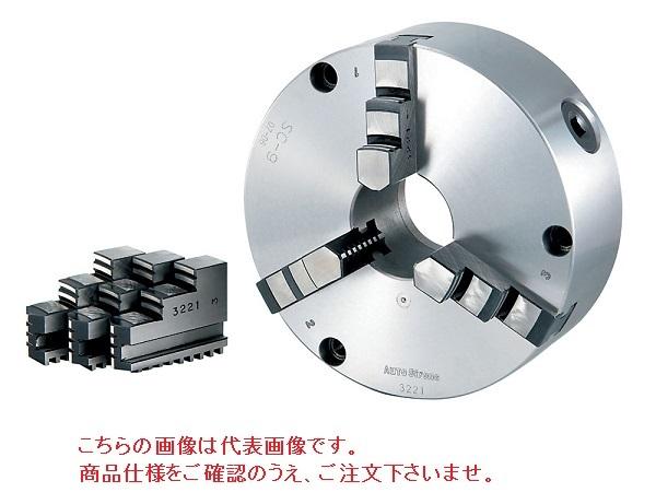 【直送品】 億川鉄工所 3爪スクロールチャック 硬爪タイプ SC-12H (前面・背面取付兼用) 【大型】