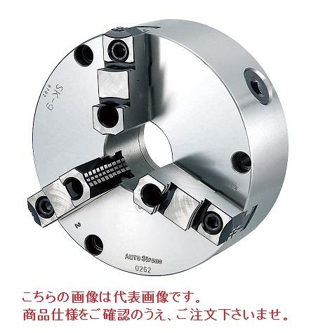 【直送品】 億川鉄工所 3爪スクロールチャック 生爪・硬爪兼用タイプ SK-16 (前面取付用) 【大型】