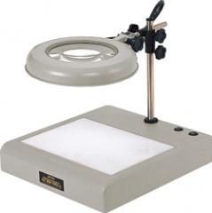 オーツカ光学 (OOTSUKA) LED照明拡大鏡 LEKsワイド-CL 4倍 (LEKS-CL-WIDE-4X) (テーブルスタンド式ライトボックス付)