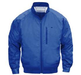 【直送品】 空調服 NA-101A ブルー Lサイズ (チタン・立ち襟 バッテリーセット) 『肩・袖補強あり』