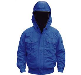 【直送品】 空調服 NB-101A ブルー 5Lサイズ (チタン・フード バッテリーセット)