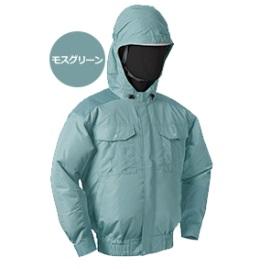 【直送品】 空調服 NB-101A モスグリーン 4Lサイズ (チタン・フード バッテリーセット)