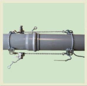 パイプに乗せて鎖を掛けるだけの簡単操作 直送品 着後レビューで 数量は多 送料無料 川村製作所 パイプ挿入工具 りょうかん 大型 KAR-400 塩ビ管専用 呼び径75~400